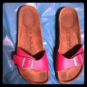 Birkenstock Betula Size 8 8.5 39 Red Sandals
